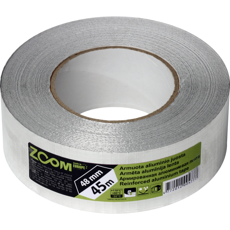 Reinforced aluminium tape 48 mm × 45 m