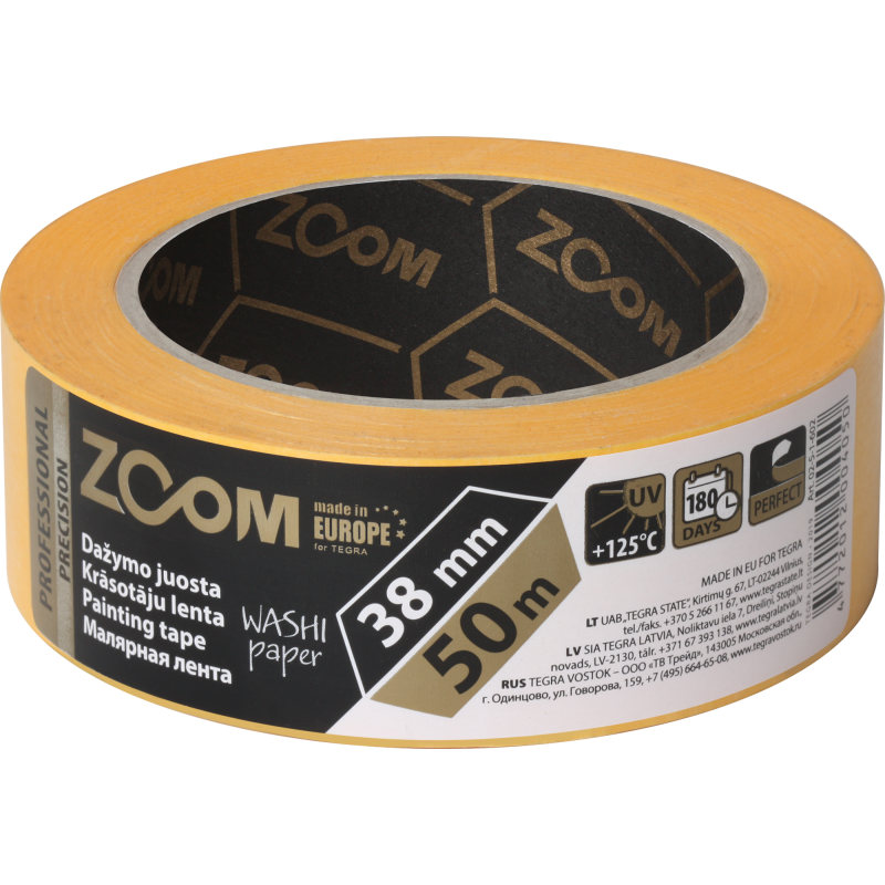 Professional masking tape, 38 mm x 50 m, PRECISION, ZOOM