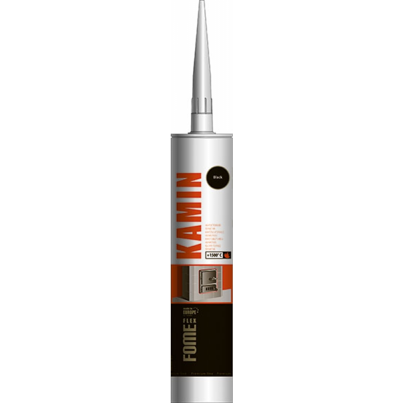 Black, heat-resistant Sealant 1500C, Kamin Fome Flex