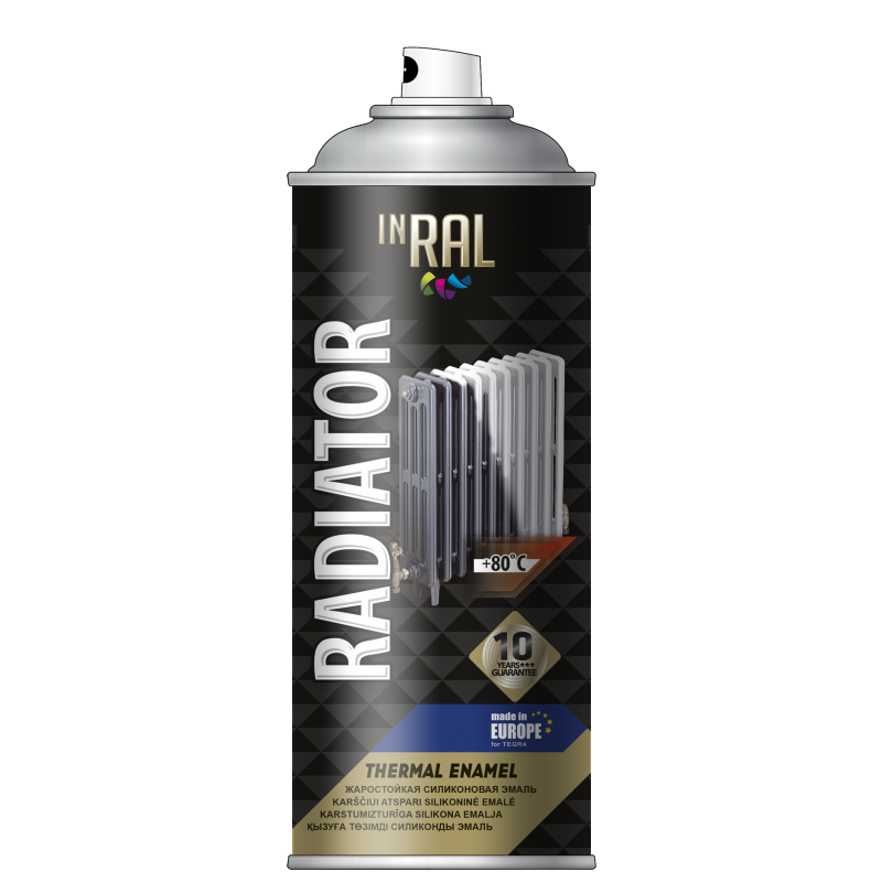 Aerosol paint for radiator, RADIATOR,  white , INRAL