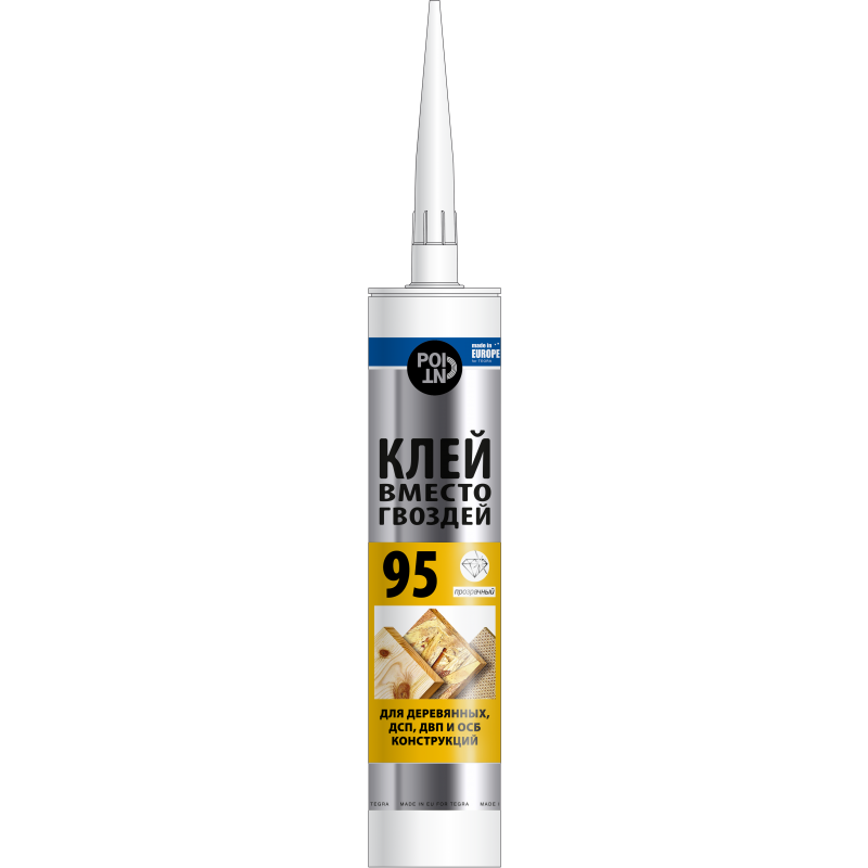 Point 95 glue, For wood, OSB constractions. Transparent, 280ml