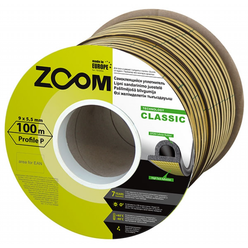 SELF-ADHESIVE SEALING STRIP P, CLASSIC ZOOM